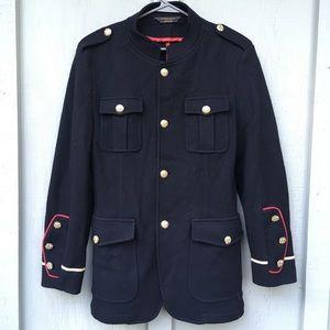 ZARA Denim Couture Navy Wool Winter Jacket Coat